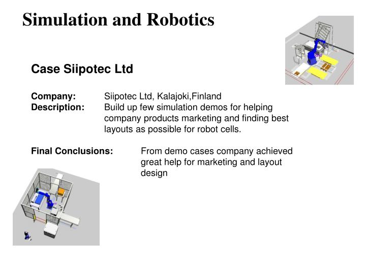 Simulation and robotics2