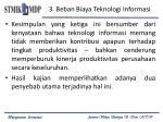 3 beban biaya teknologi informasi