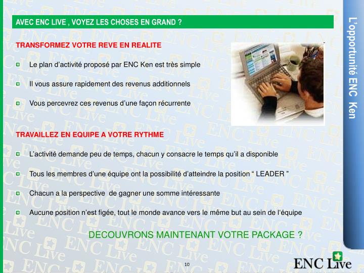 AVEC ENC LIVE , VOYEZ LES CHOSES EN GRAND ?
