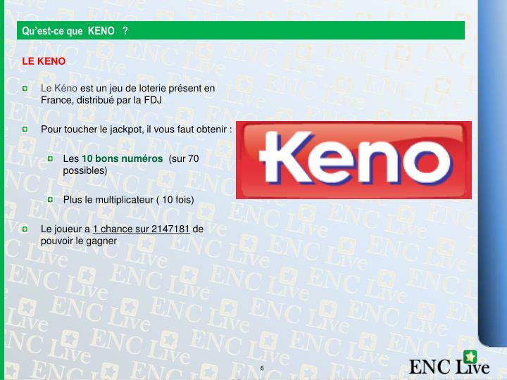 Qu'est-ce que  KENO   ?
