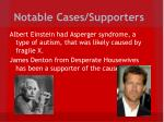 notable cases supporters