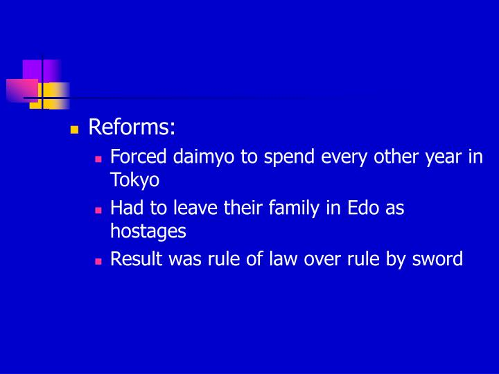 Reforms: