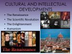 cultural and intellectual developments