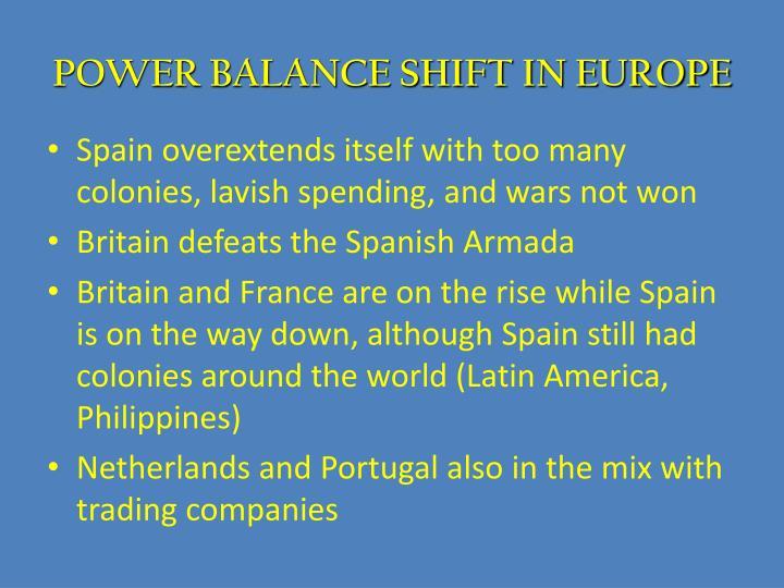 POWER BALANCE SHIFT IN EUROPE