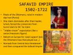 safavid empire 1502 1722