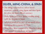 silver ming china spain