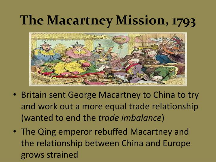 The Macartney Mission, 1793