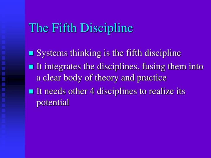 the laws of the fifth discipline essay Essay on nursing law essay on nursing law 1035 words aug 2nd, 2014 5 pages show more implementing ethico-legal issues in nursing practice caldwell, e, lu, h.