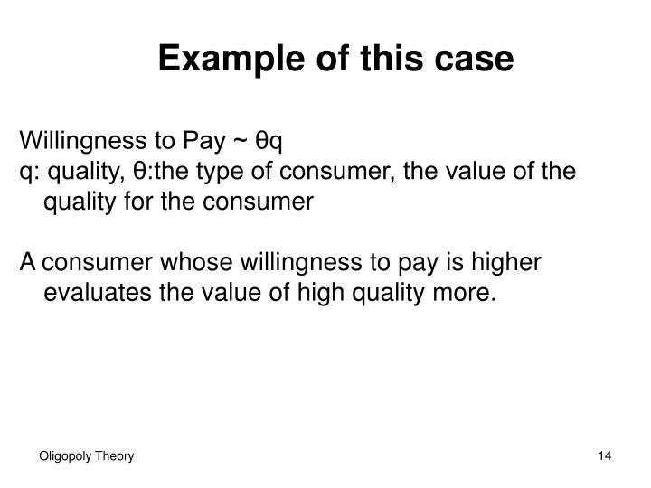 Willingness to Pay ~ θq