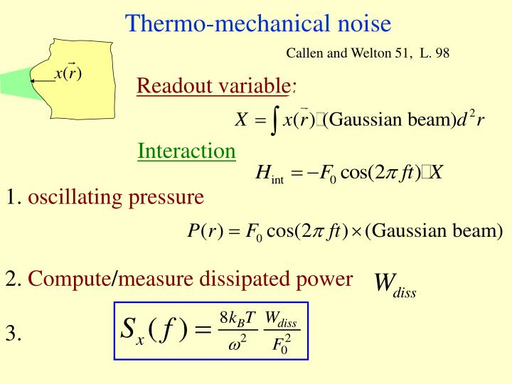 Thermo-mechanical noise