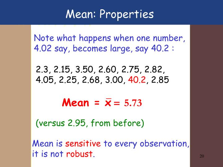 Mean: Properties