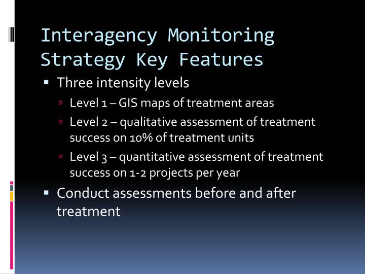 Interagency Monitoring Strategy Key Features