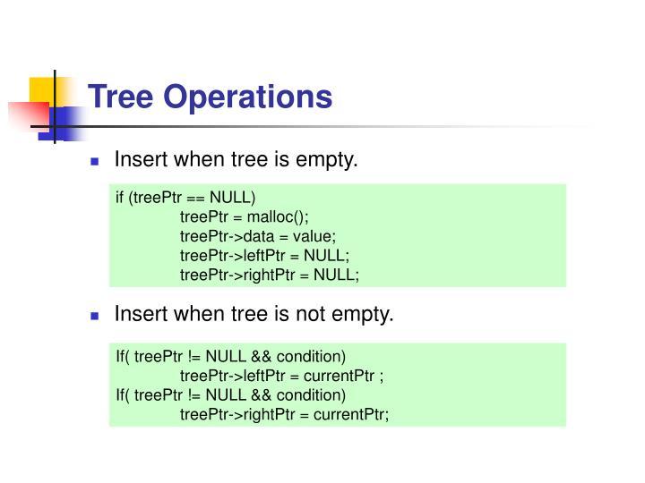 Tree Operations