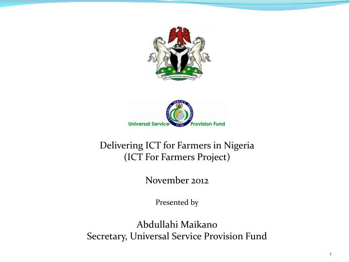 Delivering ICT for Farmers in Nigeria