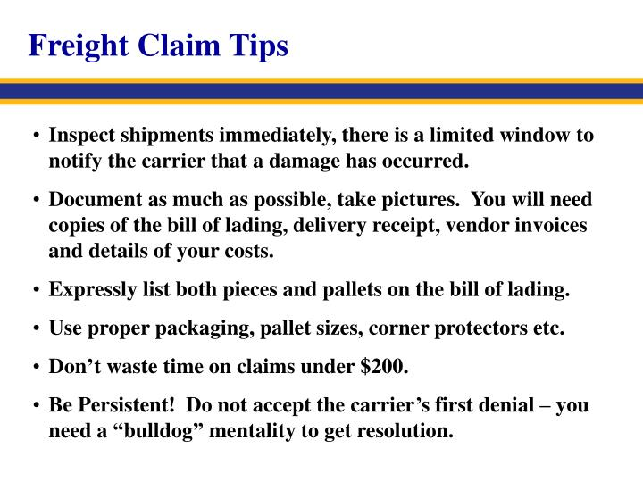 Freight Claim Tips