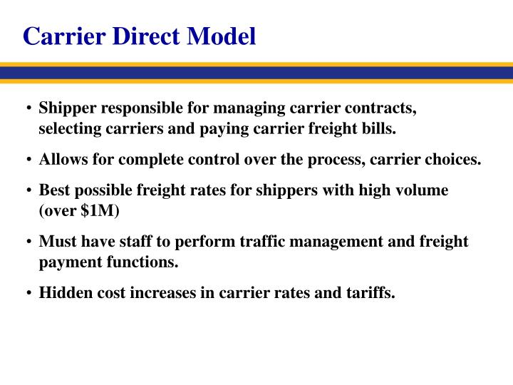 Carrier Direct Model