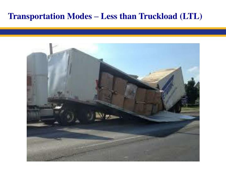 Transportation Modes – Less than Truckload (LTL)