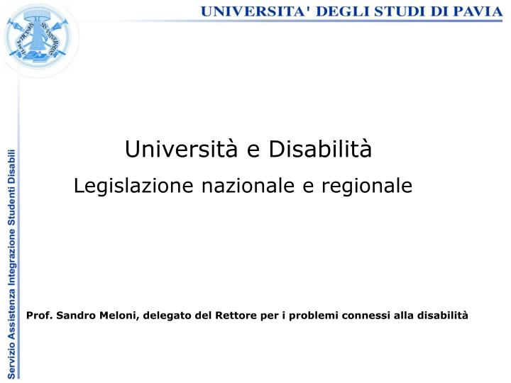 Università e Disabilità