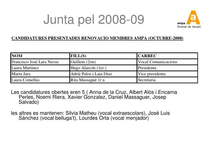 Junta pel 2008-09