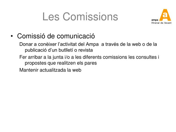 Les Comissions
