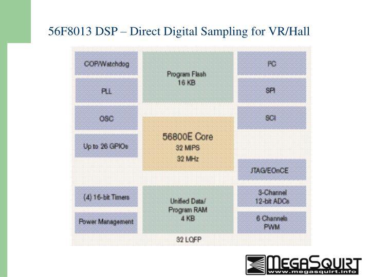 56F8013 DSP – Direct Digital Sampling for VR/Hall