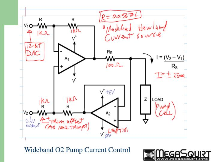 Wideband O2 Pump Current Control