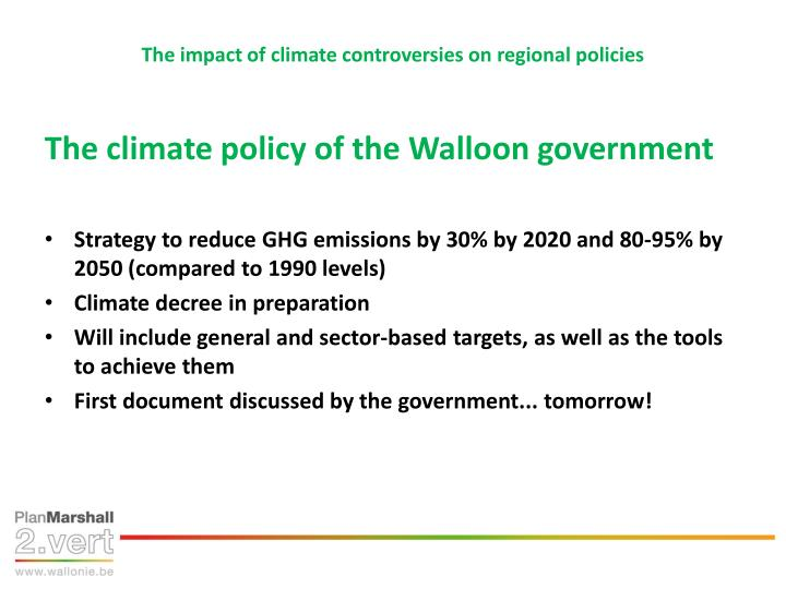 The impact of climate controversies on regional policies1