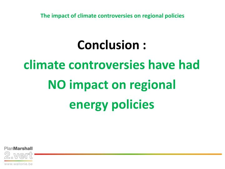 The impact of climate controversies on regional policies