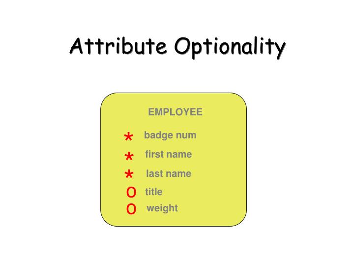 Attribute Optionality