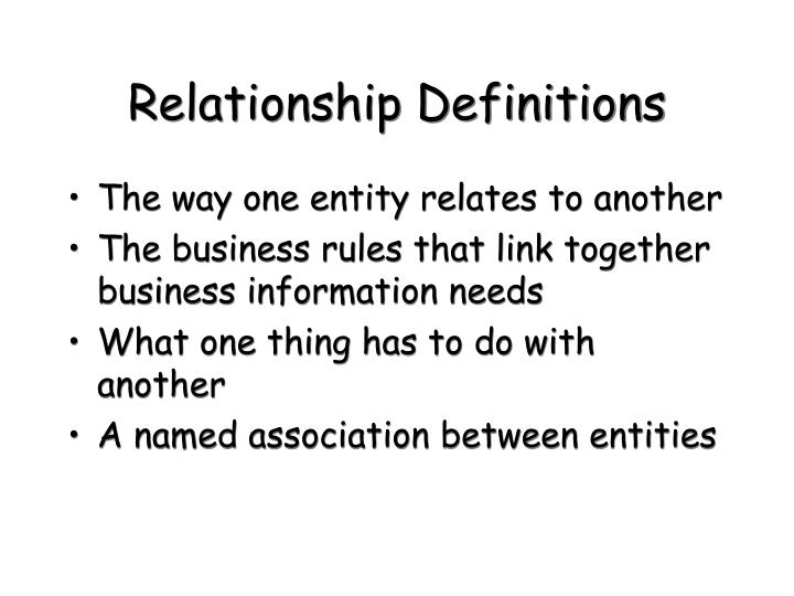 Relationship Definitions
