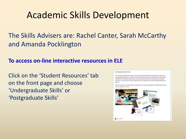 Academic Skills Development