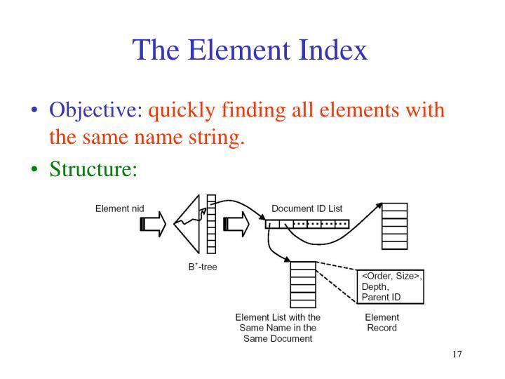 The Element Index