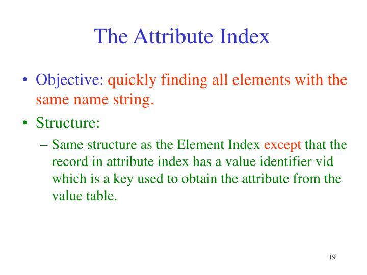 The Attribute Index