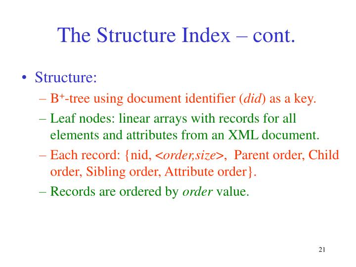 The Structure Index – cont.