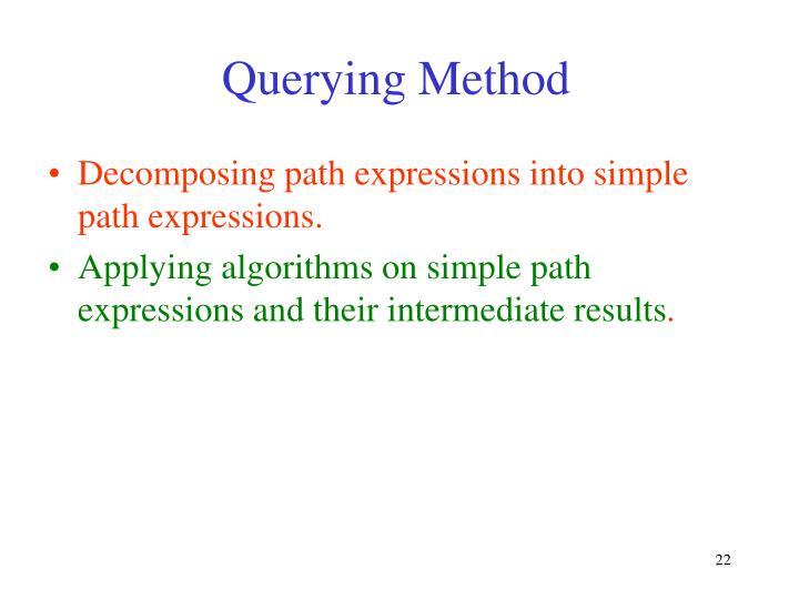 Querying Method