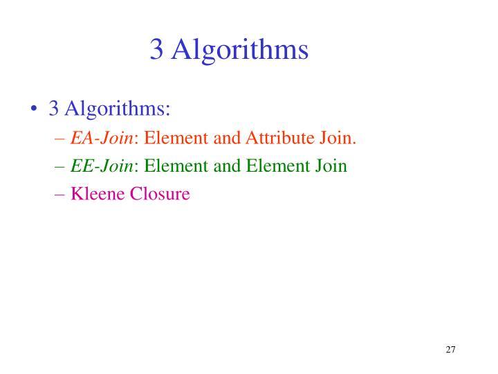3 Algorithms