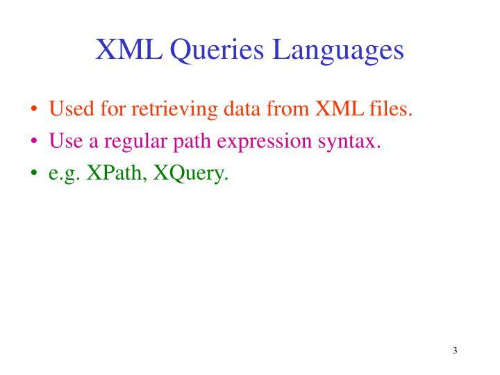 XML Queries Languages