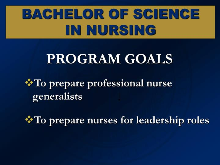 To prepare professional nurse generalists