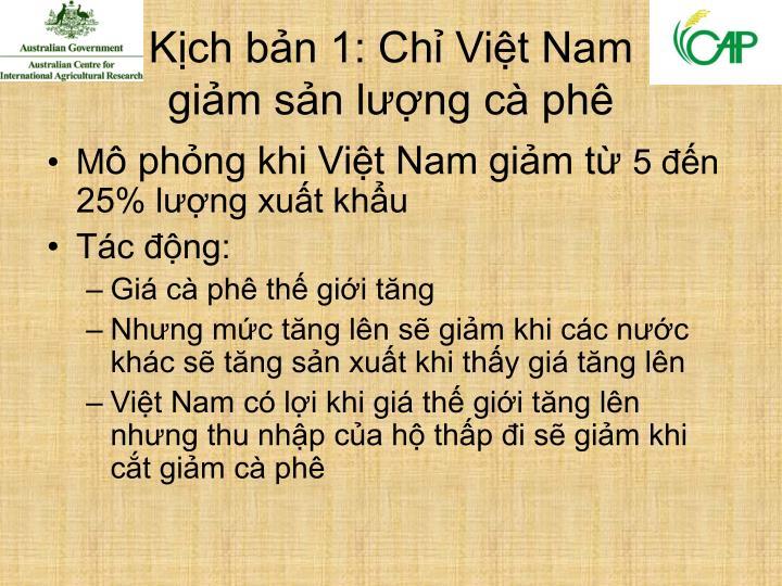 Kịch bản 1: Chỉ Việt Nam