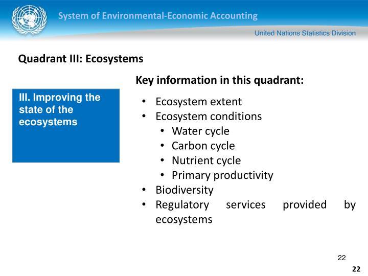 Quadrant III: Ecosystems