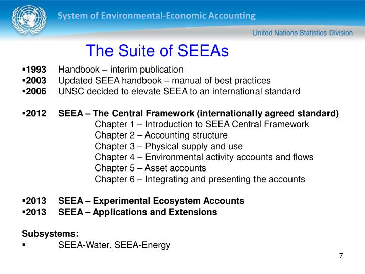 The Suite of SEEAs