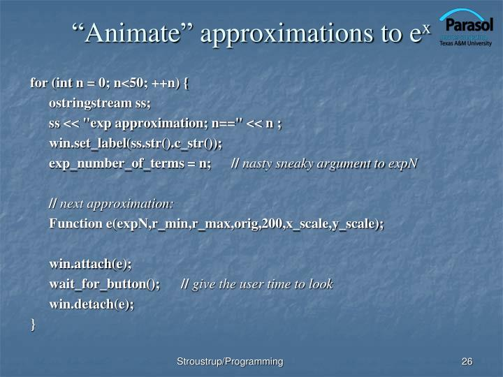 """Animate"" approximations to"