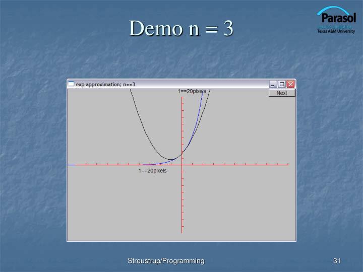 Demo n = 3