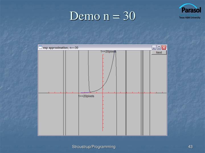 Demo n = 30