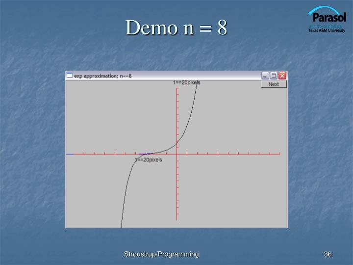 Demo n = 8