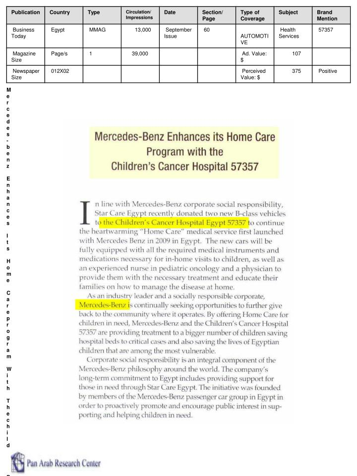 Mercedes-benz Enhances Its Home Careprogram With Thechildren S Cancer Hospital 57357