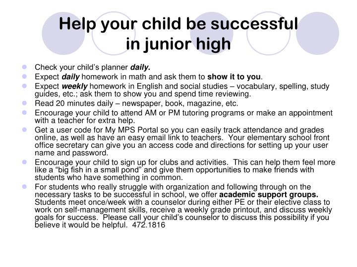 Help your child be successful