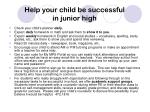 help your child be successful in junior high