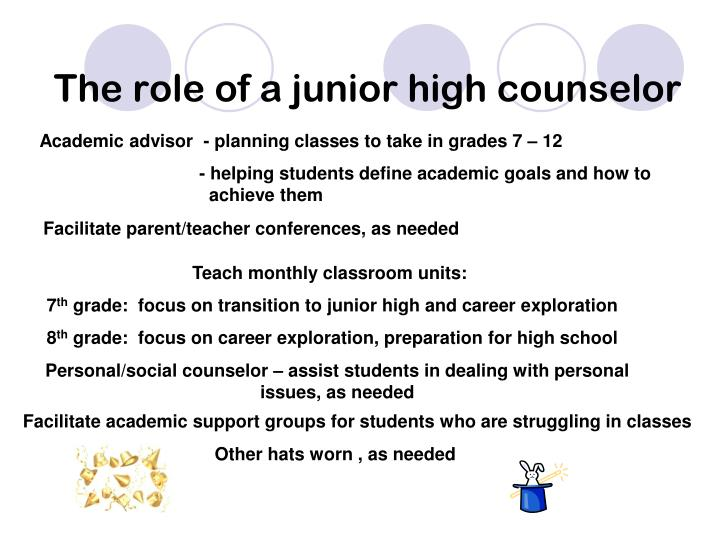 The role of a junior high counselor