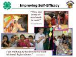 improving self efficacy